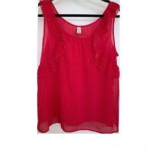 Old navy sleeveless ruffle blouse size XL